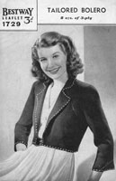vintage ladies knitting pattern 1940s ladies bolero jacket 1940s wartime war