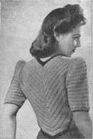vintage ladies crochet jacket knitting pattern 1940s