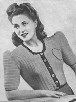 vintage ladies jacket crochet pattern from 1940s