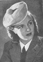 vintage ladies beret knitting pattern from 1940s