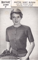ladies summer tops knitting patterns 1940