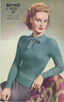 vintage ladies 1940s jumper knitting patterns