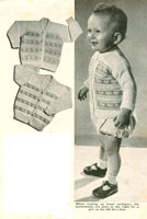 vintage baby fair isle knitting patterns