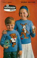vintage fair isle knitting pattern for girls