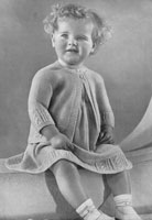 vintage 1930 knitting pattern for baby dress set