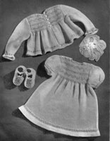 vintage baby knitting dress set