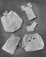 undies for baby knitting pattern from 1940s