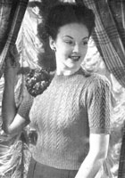 ladies jumper knitting pattern from 1944