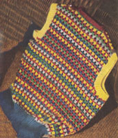 vintage ladies knitting pattern for fair isle slip over from 1944