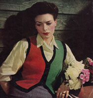 vintage ladieswaist caot knitting pattern from 1944