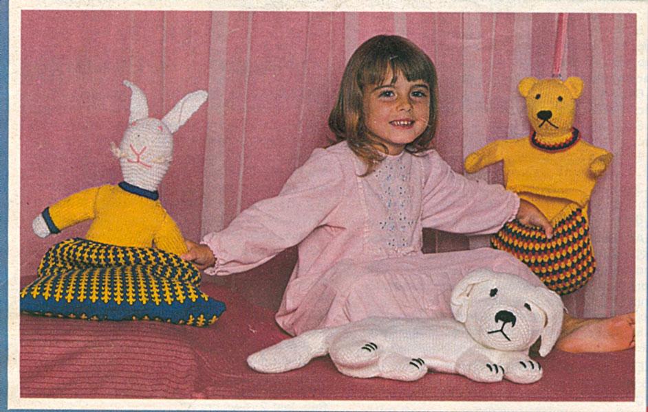 vintage toy animal knitting pattern