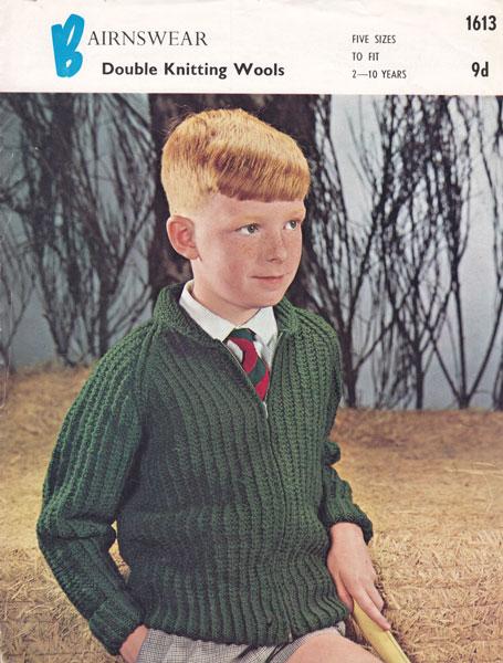 Knitting Wallpaper Uk : Vintage knitting pattern for boys zip cardigan in double