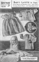 vintage layette knitting patterns