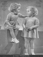 vintage childs dress knitting patterns 1940s