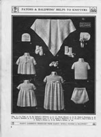 vintage baby layette knitting patterns