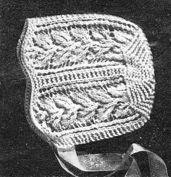 Vintage Bonnet Mittens and Bootees knitting patterns available from The Vinta...