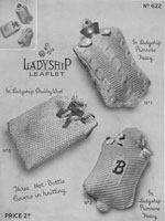 vintage hot water bottle covers 1940s knitting patterns