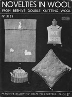 vintage hot water bottle cover knitting pattern 1930s