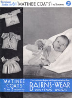 vintage baby matinee coats 1930s knitting patterns