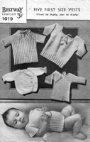 vintge baby vest knitting patterns from 1940s