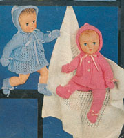 vintage dolls knitting patterns