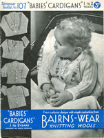 vintage baby cardig knitting patterns
