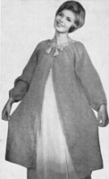vintage ladies dressing gown knitting pattern 1950s