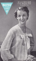 vintage bestway knitting pattern ladies bed jacket 1940s