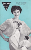 bestway a2607 ladies be djacket knitting pattern 1940s