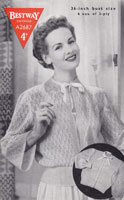ladies bed jacket knitting pattern betway 2687