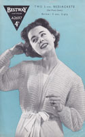 vintage ladies bed jacket knitting pattern 1940s a2697