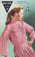 vintage ladies bestwaya2984 bed jacket knitting pattern