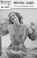 vintage ladies bede jacket knitting pattern 1940s