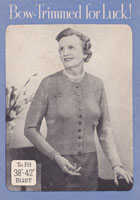 ladies 1940s jumper knitting patterns