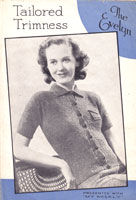 vintage ladies jumper and cardigna knitting pattern 1940s