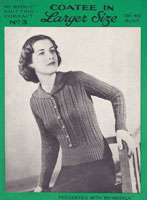 vintage jumper cardigan knitting pattern 1930s