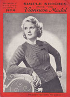 vintage ladies 1930s jumper knitting pattern