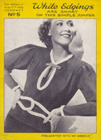 vintage ladies jumper knitting pattern 1930s