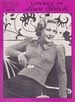vintage ladies 1930s jumper pattern