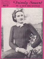 vintage 1930s jumper knitting pattern