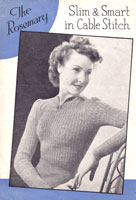 ladies 1940s jumper knitting pattern