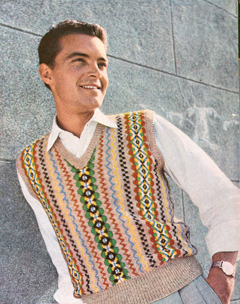 Fair Isle Knitting Patterns For Men : Vintage Mens Fair Isle knitting patterns available from The Vintage Knitting ...