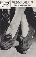 vitnage ladies bedroom slippers from 1940s knitting pattern bestway 1172