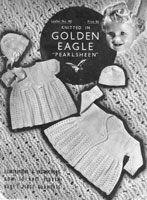 vintage baby dress set with shawl knitting pattern 1930s