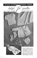 vintage baby layette knitting pattern from magazine 1930s