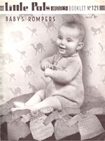 vintage baby romper knitting pattern from 1930s