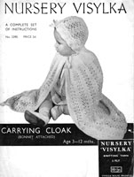vintage baby cape knitting pattern 1930s