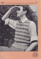 Fair Isle Mens Vintage Knitting Pattern