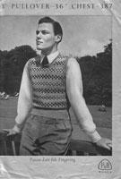 vintage 1940s fair isle mens knitting patterns