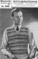 vintage 1940s fair isle knitting patterns